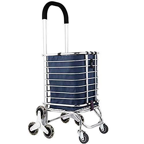 DJY-JY Grocery Shopper equipaje Carros de 8 ruedas, doblar la ropa herramienta de viaje de la compra, los hogares equipaje de mano portátil de camiones remolque del camión Camión, balanceo de ruedas d