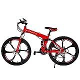 Novokart Bicicleta Plegable, Unisex, para Adulto, Rojo, 21 velocidades