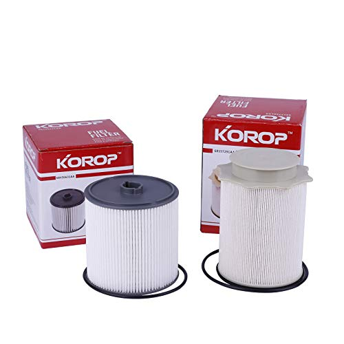Fuel Filter Water Separator Set Replaces# 68157291AA and 68436631AA , Fits for Dodge Ram 2019 2020 2021 6.7L Cummins Diesel 2500 3500 4500 5500