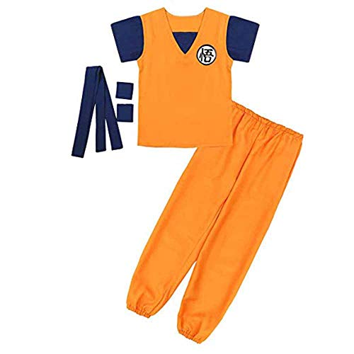 Trainingsanzug Herren Goku Kostüm Cosplay Kostüm Dragon Ball Cosplay Kostüm Kampfsport Training