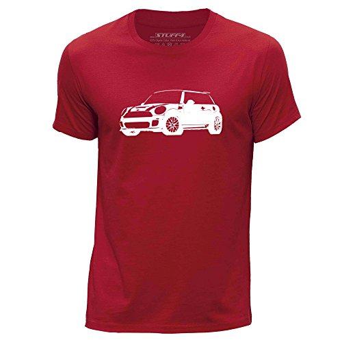 Stuff4 Heren T-Shirt/Stencil Auto Art/Cooper S/Ronde hals Casual Korte mouw 100% Organisch Katoen