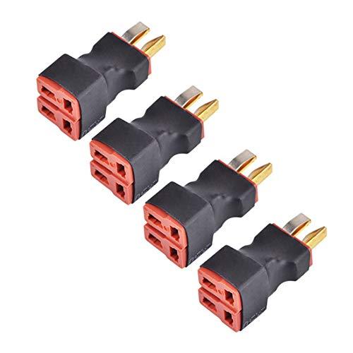 FLY RC DeansスタイルTプラグパラレルコネクタ1オスから2メスワイヤレス RC LiPo NiHMバッテリーESC用(4pcs))