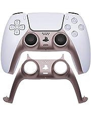 VICKSONGS PS5 Poignée de jeu décorative pour manette de PS5 Couleur métallique, 1:1 Ajustement parfait] Bandes décoratives interchangeables pour manette de PS5 (or rose) 1 pièce