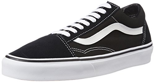 Vans Unisex Old Skool Black Leather Leather Sneakers – 8 UK/India (42 EU)