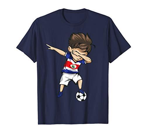 Dabbing Soccer Boy Costa Rica Jersey Shirt - Football Gift