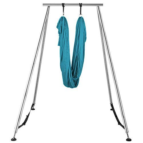Happybuy Yoga Sling Inversion, 68lbs Inversion Yoga Swing Stand, 551lbs/250kg Aerial Yoga Frame with 236in/6m Yoga Swing Inversion Sling Body Bundle Safety Belts (Green, 19.6ft)