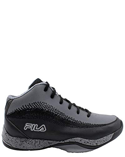 Fila Men's Contingent Basketball Shoes Sneakers Black Grey, 11.5