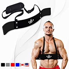 TARGET AND ISOLATE BICEP MUSCLES: Designed to enhance your barbell and dumbbell curls this arm curl blaster helps create stronger, more well defined bicep muscles by locking elbows into place and keeping them from swaying during lifts. STRENGTHEN ARM...