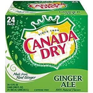 Canada Dry Ginger Ale, 12 Ounce (24 Cans)