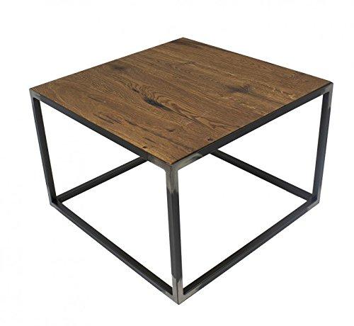 Bijzettafel hout massief houten tafel kleine eiken donker 60x60