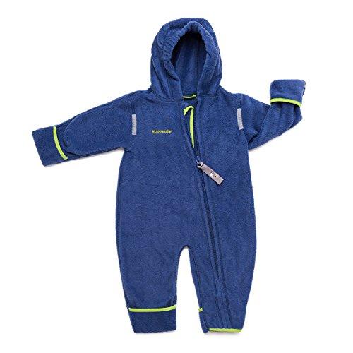 HOPPEDIZ Fleece-Overall für Baby und Kleinkind, marine, 92-98