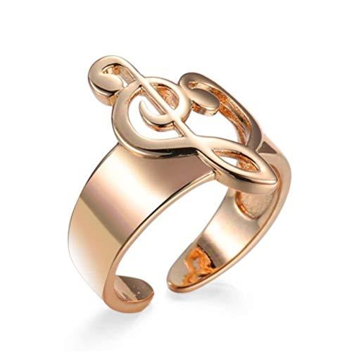 JIFNCR, anello da dito aperto con note musicali, anello semplice e regolabile, per amanti delle feste, decorazione per feste