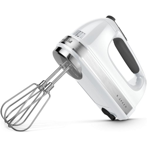 KitchenAid KHM920A 9-Speed Digital Display Hand Mixer- With (Free Dough hooks, whisk, milk shake liquid blender rod attachment and accessory bag)