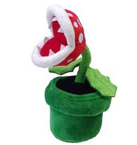 Super Mario Plush Piranha Plant Mario Plush 22CM Anime Toys Soft Toys for Kids Peluche Mario Stuffed Toy Kids Gift Green