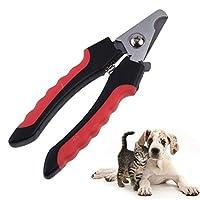 プロフェッショナルペットクリッパーはさみステンレス製の猫の犬猫がサイズMをロックする準備ネイルクリッパーカッターペットの犬用品,ノンブロッキング,M