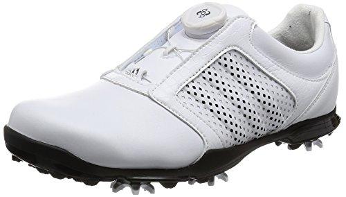 adidas Damen Adipure Boa Golfschuhe, Weiß (White/core Black/core Black), 38 EU
