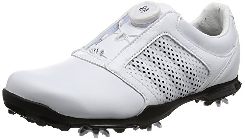 adidas Damen Adipure Boa Golfschuhe, Weiß (White/core Black/core Black), 39 1/3 EU