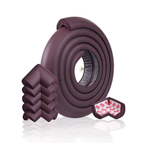 子ども年配者を安全に保護エッジクッション(2M) 子供用コーナーガード(6個入り),厚みのある,両面テープが予め貼ってあります (ブラウン, 2M)