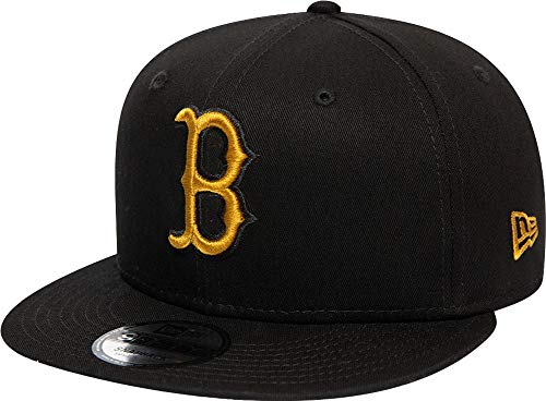 New Era Boston Red Sox League Essential Black Old Gold 9fifty Snapback Cap 950 S M Basecap