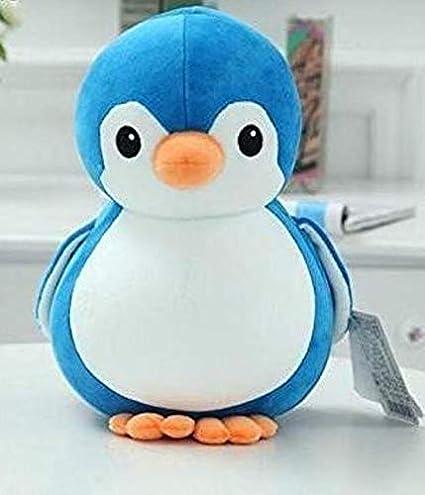 Babique Penguin Teddy Bear Plush Soft Toy Cute Kids Birthday Animal Baby Boys/Girls (28 cm, Blue) 1