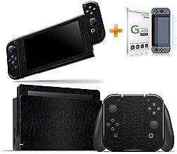 Kit Skin Adesivo Protetor Nintendo Switch + Película de Vidro (Couro)