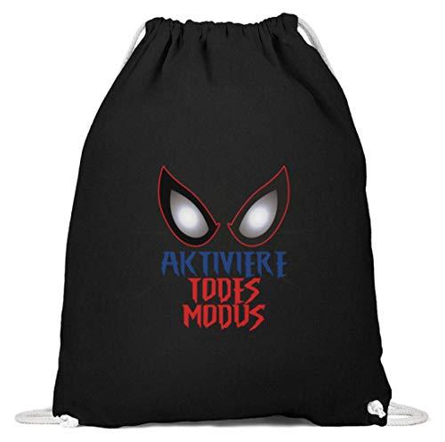SPIRITSHIRTSHOP activeren dodemodus! - Helden design voor dames, heren en kinderen – Spider net pak – katoenen gymzak