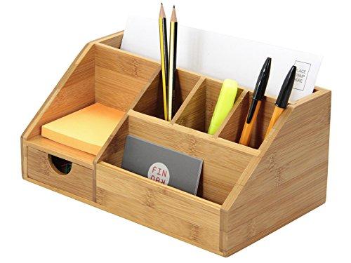 Schreibwaren-Organizer aus Bambus – Halter für Briefe, Notizen und Stifte