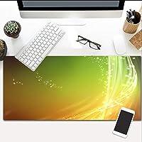 マウスパッド黄色のレーザー線画特大の光る延長アンチスリップゴムベースと防水面特大キーボード600X300Mm