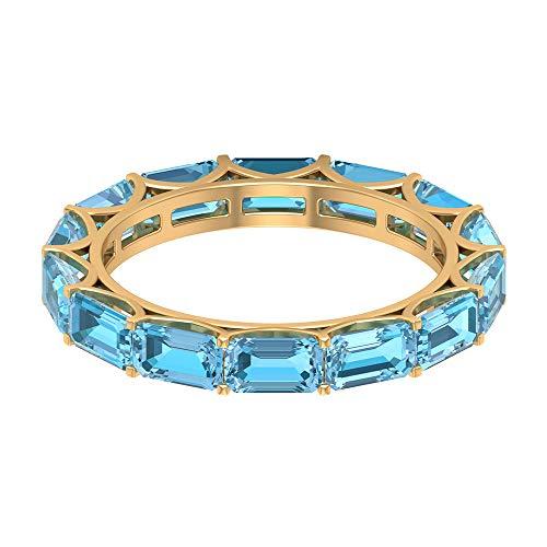 Rosec Jewels 10 quilates oro amarillo Octagone Aquamarine