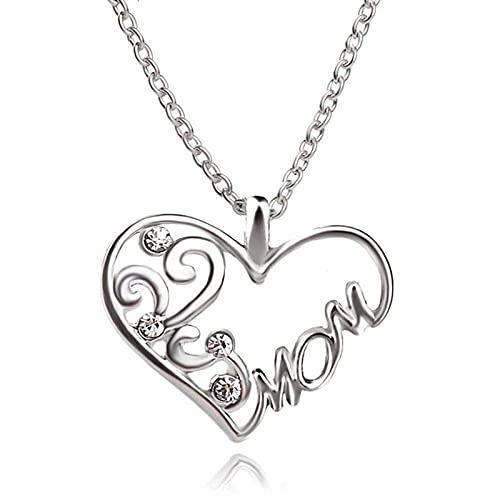 Vintage Weiße Pferdepeitsche Kette WeißKHohler Diamant Liebe Mutter Anhänger Muttertagsgeschenk Kette Halskette Weiblich46Cm