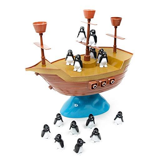 Lopbinte Lindo PingüIno Barco Pirata InteraccióN Familiar Juego de Escritorio para Ni?Os Regalo Juguetes Educativos para Ni?Os