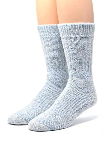 Warrior Alpaca Socks - Unisex Toasty Toes Ultimate Alpaka-Socken für Damen & Herren. - Blau - Large