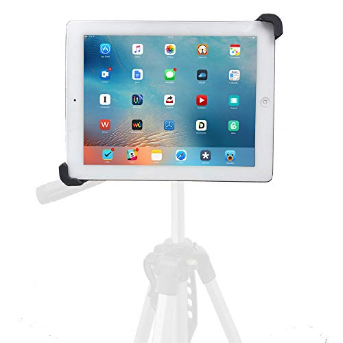 iShot G10 Pro Universal iPad Tablet Tripod Monopod Mount Adapter Holder - Compatible with and Adjustable for iPad and All 7' to 10' Tablets with or Without a Case