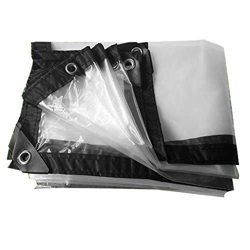 LRZLZY Lona Impermeable Lona Carpa de plástico Transparente Espesar Cultivos de Invernadero Wrap Borde de la película, Personalizable Tamaño Respetuoso del Medio Ambiente (Color : Clear, Size : 4X6M)