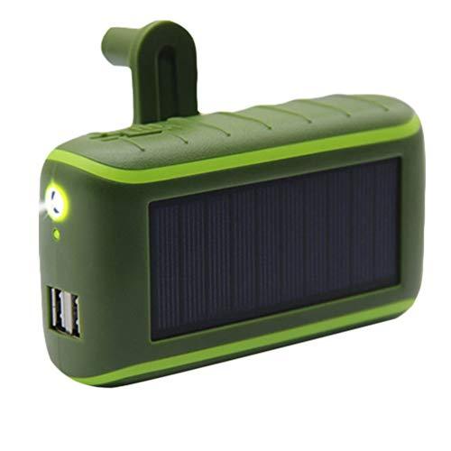 YARNOW Generador de Manivela Cargador de Teléfono Solar Generador de Energía Portátil de Emergencia Energía Móvil con Linterna Led 8000Mah