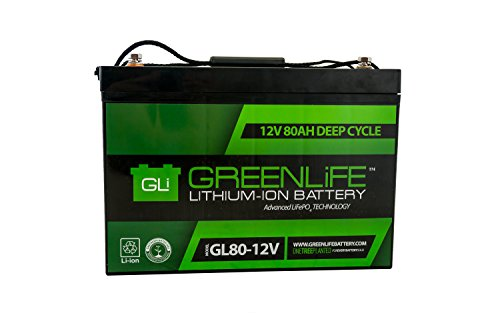 GreenLiFE Battery GL80-80AH 12V Lithium Ion Battery Group 27
