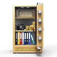 SMTAO 金庫耐火性および盗難防止、スチールボックス、ホームホテルのオフィスファイルキャビネットに適しています、オールメタルメカニカルコードロック,Ns,70X43X36Cm