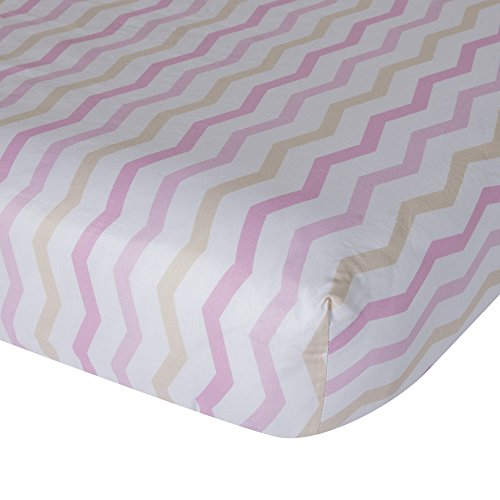 Lambs & Ivy Gingersnap Ellie Fitted Crib Sh