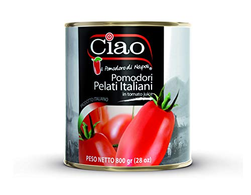 Ciao Italian Whole Peeled Tomatoes 28 Ounce (Pack of 6) - Authentic Product of Italy
