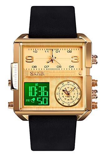Reloj - SKMEI - Para Hombre - Lemaiskm1584 LEATHER GOLD