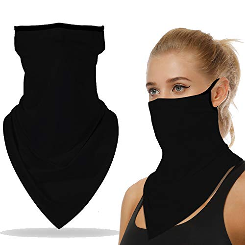 Face Mask Neck Gaiter Bandana Ear Loops Stylish Men Women for Dust Wind Motorcycle