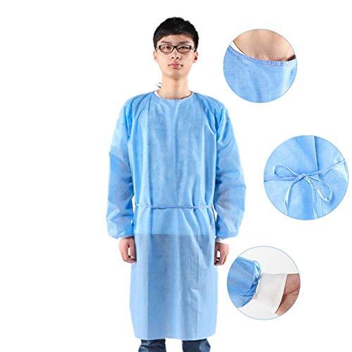 Lifeinhome 6 Pezzi Uniformi medicali monouso Camice da Isolamento Chirurgico Impermeabile Anti-ruggine Abbigliamento da Lavoro Medico Abbigliamento da Lavoro Scrub Medico