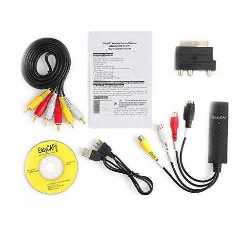 Peanutaoc USB 2.0 Vhs naar Dvd Converter Audio Video Capture Kit Scart Rca kabel voor Win10