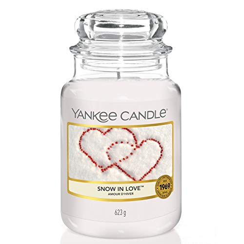 Yankee Candle Duftkerze im Glas (groß) | Snow In Love | Brenndauer bis zu 150 Stunden