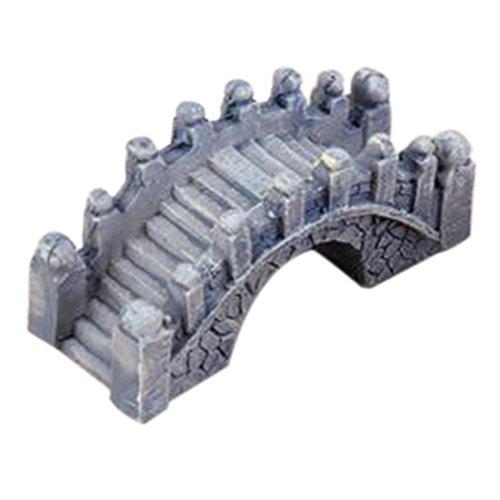 rongwen Miniature Pont de Pierre en Résine Ornement de Fée Jardin