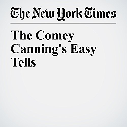 The Comey Canning's Easy Tells copertina