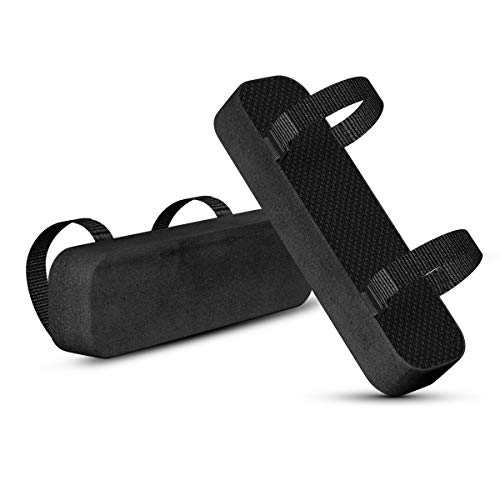 Chair Armrest Pads,2 Pack Universal Cushion Cover with Memory Foam Elbow Pillow for Forearm Pressure Relief,Arm Rest Covers for Office Chairs,Wheelchair,Comfy Gaming Chair (Black)
