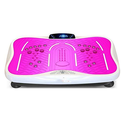 LJLis Vibrationsplatte Fitness Vibrationsplatte 3D Wipp Vibrations Technologie Kompakte Vibrationsplatte 99 Frequenzen,Rosa