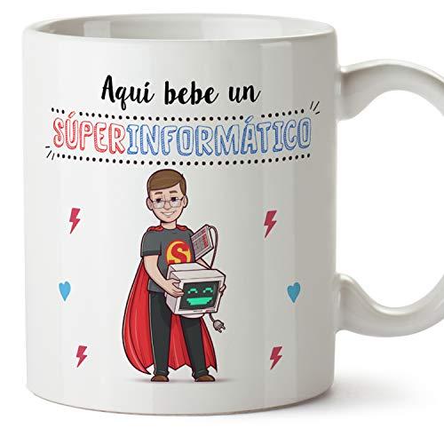 MUGFFINS Taza Informático (Superhéroes() - Regalos Originales y Divertidos de Informática