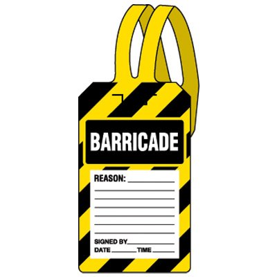 Super Special SALE famous held TAG-Barricade Pack of 25 Tags